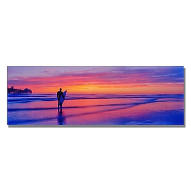 Trademark Fine Art Preston 'Evening Reflections' Canvas Art 12x32 Inches