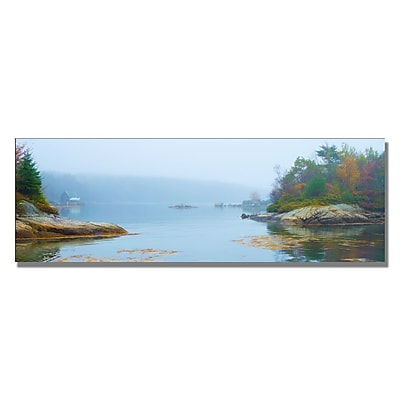 Trademark Fine Art Preston 'Floods Cove' Canvas Art 12x32 Inches