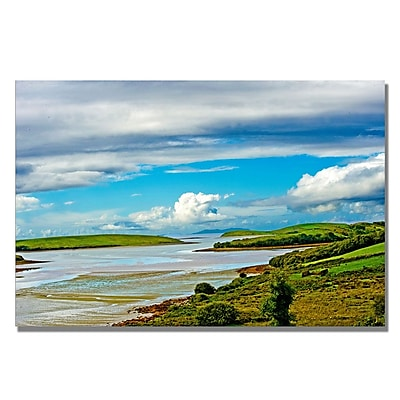 Trademark Fine Art Preston 'Irish Afternoon' Canvas Art 30x47 Inches