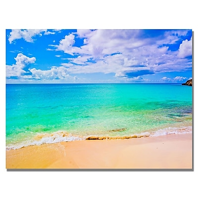 Trademark Fine Art Preston 'Maho Beach' Canvas Art 18x24 Inches