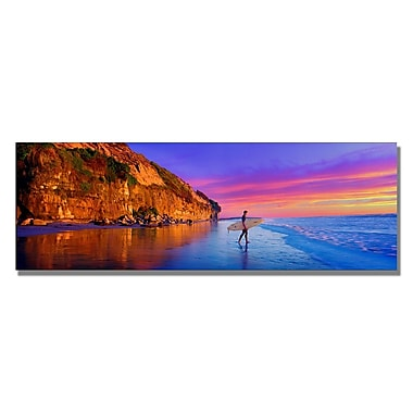 Trademark Fine Art Preston 'Moonlight Beach' Canvas Art 12x32 Inches
