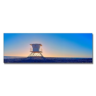 Trademark Fine Art Preston 'Moonlight Beach II' Canvas Art 12x32 Inches