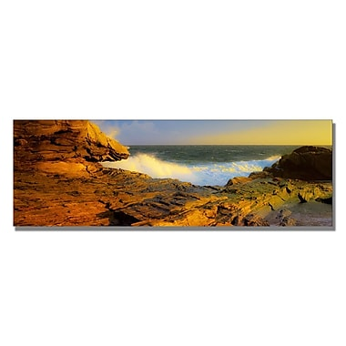 Trademark Fine Art Preston 'Pemaquid Point Maine' Canvas Art 12x32 Inches
