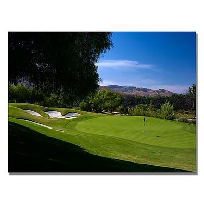 Trademark Fine Art Approaching the Green Canvas Golf Art