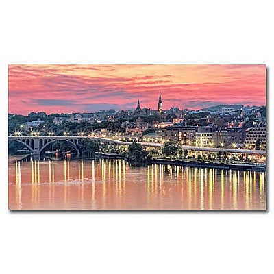 Trademark Fine Art Gregory Ohanlon 'Georgetown In Twilight' Canvas Art 30x47 Inches