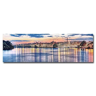 Trademark Fine Art Gregory Ohanlon 'Georgetown Waterfront' Canvas Art 14x47 Inches