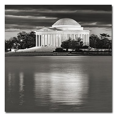 Trademark Fine Art Gary Ohanlon 'Jefferson Memorial-Night' Canvas Art