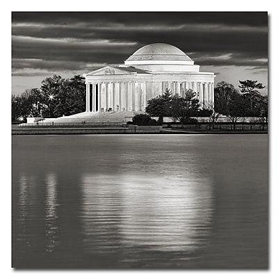 Trademark Fine Art Gary Ohanlon 'Jefferson Memorial-Night' Canvas Art 35x35 Inches