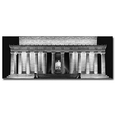 Trademark Fine Art Gregory Ohanlon 'Lincoln Memorial-Night' Canvas Art 14x32 Inches