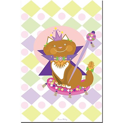 Trademark Fine Art Pretty Kitty Princess by Grace Riley-Canvas Art