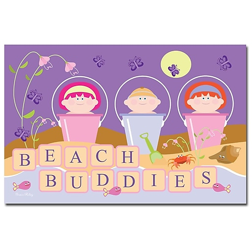 Trademark Fine Art Beach Buddie by Grace Riley-Ready to Hang Art 18x24 Inches