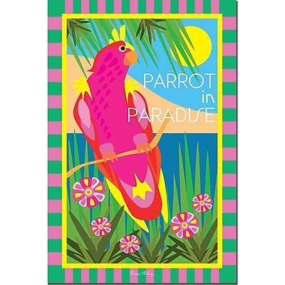 Trademark  Fine  Art Tropical Beach II by Grace Riley-Canvas Art 16x24 Inches