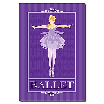 Trademark Fine Art Ballet in Blue I-Canvas Art Ready to Hang 16x24 Inches