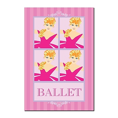Trademark Fine Art Ballet in Pink II by Grace Riely-Gallery Wrapped 14x19 Inches