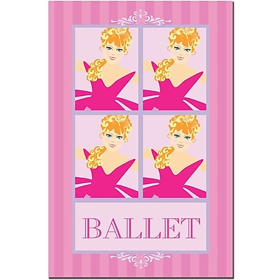 Trademark Fine Art Grace Riley, 'Ballet in Pink II' Canvas Art 22x32 Inches
