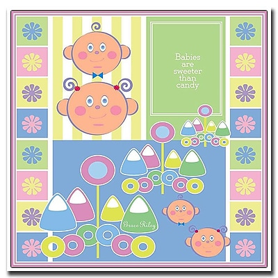 Trademark Fine Art Babies are Sweeter than Candy by Grace Riley-Canvas Art 14x14 Inches