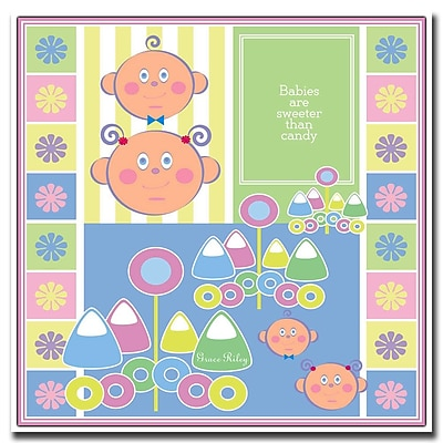 Trademark Fine Art Babies are Sweeter than Candy by Grace Riley- 24x24 Inches