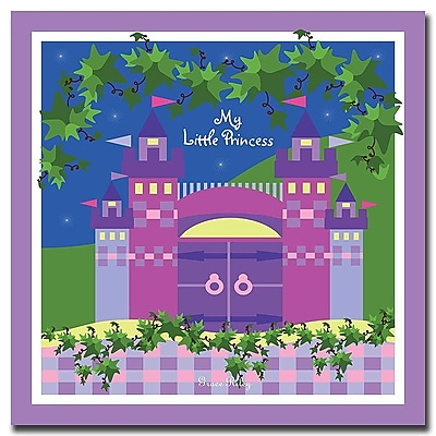 Trademark Fine Art My Little Princess by Grace Riley-Canvas Art Ready to Hang 24x24 Inches