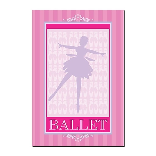 Trademark Fine Art Ballet in Pink I by Grace Riely-Gallery Wrapped Canvas 14x19 Inches
