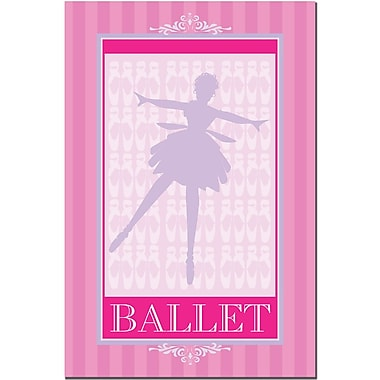 Trademark Fine Art Grace Riley 'Ballet in Pink I' Canvas Art 30x47 Inches
