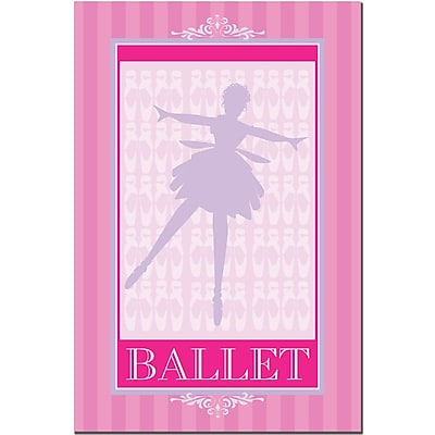 Trademark Fine Art Ballet in Pink I-Canvas Art Ready to Hang 16x24 Inches