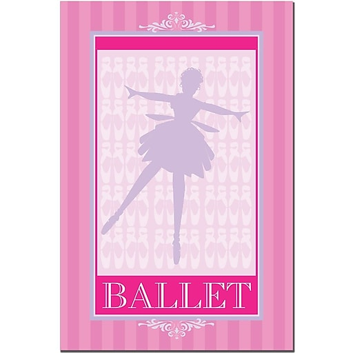 Trademark Fine Art Grace Riley 'Ballet in Pink I' Canvas Art 22x32 Inches