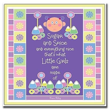 Trademark Fine Art Sugar & Spice by Grace Riley-18x18 Canvas Art 18x18 Inches