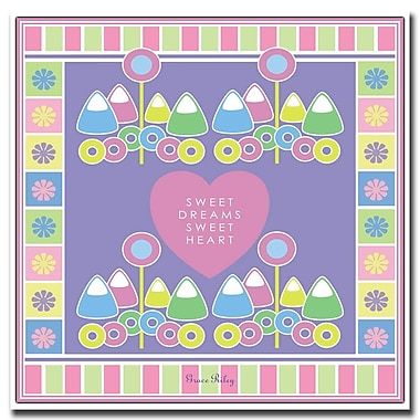 Trademark Fine Art Sweet Dreams Sweet Heart 'Girl' by Grace Riley-18x18 18x18 Inches