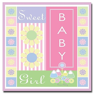 Trademark Fine Art Grace Riley 'Sweet Baby Girl' Canvas Art 14x14 Inches