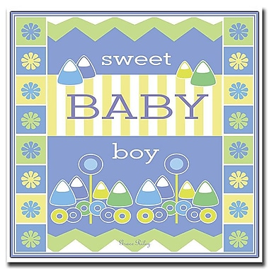 Trademark Fine Art Sweet Baby Boy by Grace Riley-18x18 CanvasArt Ready to Hang