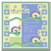 Trademark Fine Art Snakes & Snails by Grace Riley-Canvas Art Ready to Hang