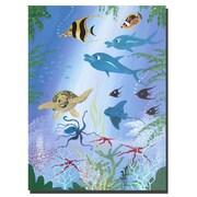 Trademark Fine Art Sea Turtle by Herbet Hofer-Canvas Ready to Hang