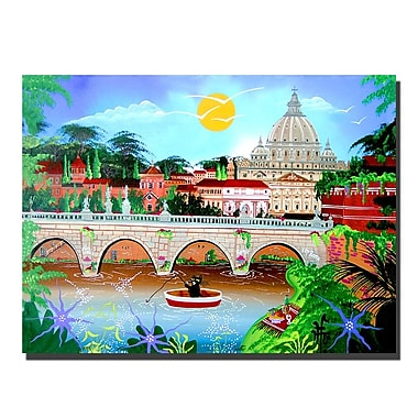 Trademark Fine Art Roma by Herbet Hofer-Canvas Ready to Hang 35x47 Inches