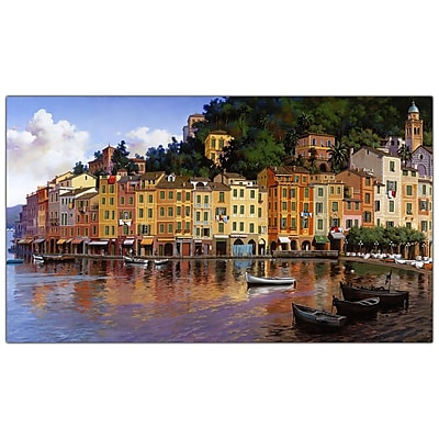 Trademark Fine Art Portofino by Hava-Ready to Hang Canvas Art 16x32 Inches