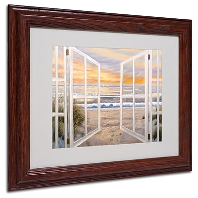 Joval 'Elongated Window' Framed Matted Art - 16x20 Inches - Wood Frame