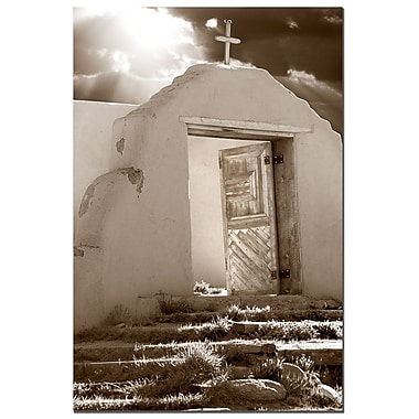 Trademark Fine Art AIANA 'Church on a Highroad' Canvas Art 18x24 Inches