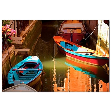 Trademark Fine Art Venetian Color by AIANA Canvas Art Ready to Hang