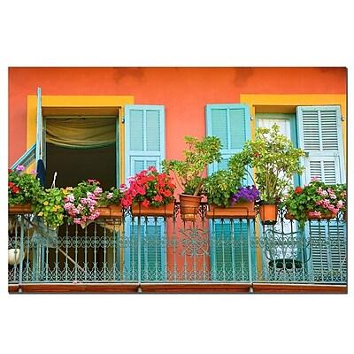 Trademark Fine Art Veranda Garden by AIANA Canvas Art Ready to Hang 35x47 Inches