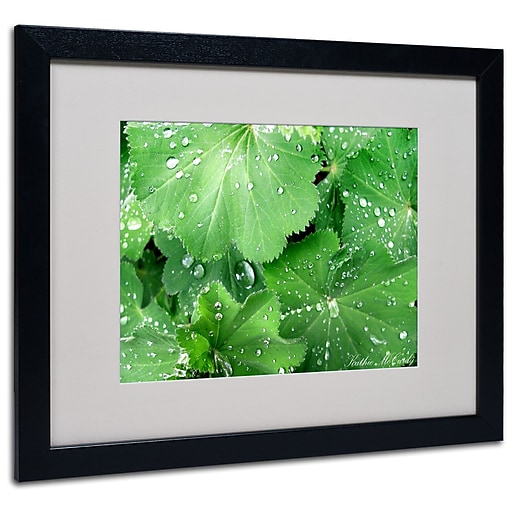 Kathie McCurdy 'Water Droplets' Matted Framed Art - 11x14 Inches - Wood Frame