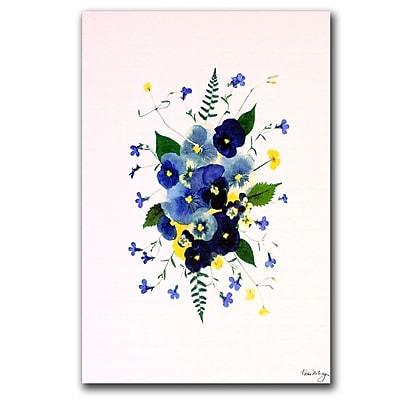 Trademark Fine Art Kathie McCurdy 'Big Zinnia' Canvas Art