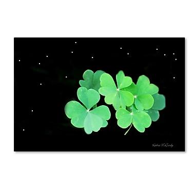 Trademark Fine Art Kathie McCurdy 'Starry Night Clover' Canvas Art