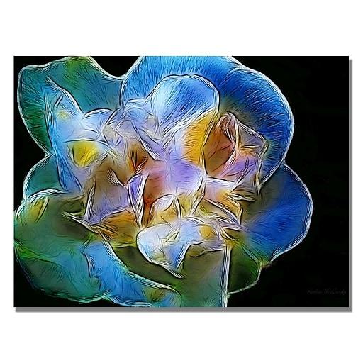 Trademark Fine Art Kathie McCurdy 'Big Blue Iris' Canvas Art