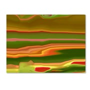 Trademark Fine Art Kathie McCurdy 'Neon Cactus Liquid Stripes' Canvas Art