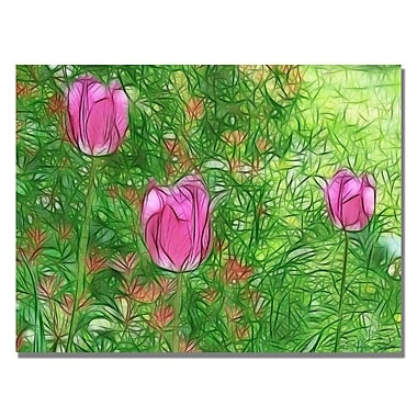 Trademark Fine Art Kathie McCurdy 'Tulips' Canvas Art 22x32 Inches