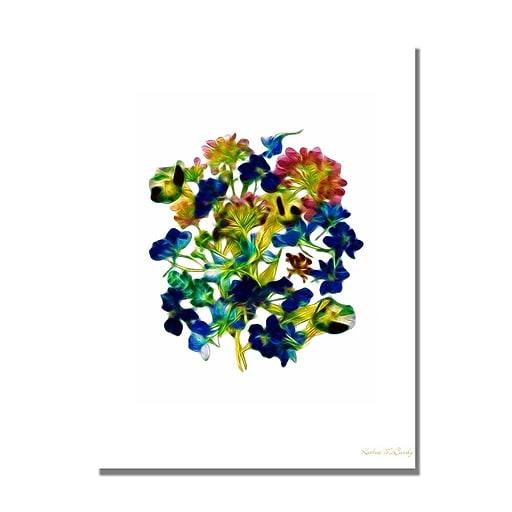 Trademark Fine Art Kathie McCurdy 'Clemata & Wild Daisy' Canvas Art