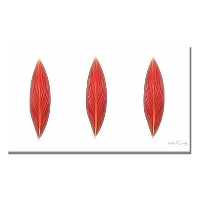 Trademark Fine Art Kathie McCurdy 'Canna Leaves' Canvas Art 14x24 Inches