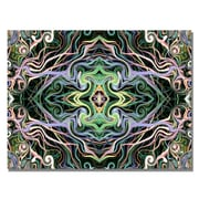 Trademark Fine Art Kathie McCurdy 'Lime Green Coneflower' Canvas Art