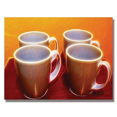 Trademark Fine Art Kathie McCurdy 'Java Cups' Canvas Art 24x32 Inches