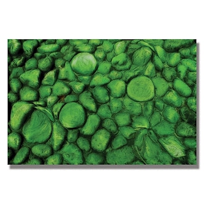 Trademark Fine Art Kathie McCurdy 'Green River Rocks' Canvas Art 22x32 Inches