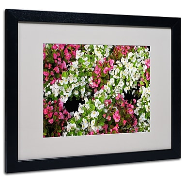 Kathie McCurdy 'Begonia Garden' Matted Framed Art - 11x14 Inches - Wood Frame